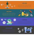 Metaworking poster template vector image
