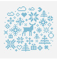 nordic style elements for decoration vector image