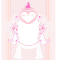 romantic card with dancing couple love birds and vector image