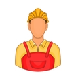 Builder icon in cartoon style vector image