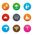 Hotel apartment services icons Wifi sign vector image