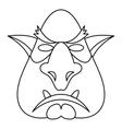 Head of troll icon outline style vector image