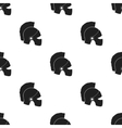 Helmet icon in black style isolated on white vector image