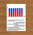 document with 3d graphic vector image