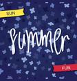 summer sun and fun vector image