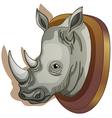 A head of a rhino vector image vector image