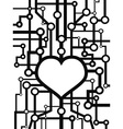 heart circuit vector image vector image