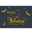 Happy Halloween lettering Greeting Card vector image
