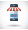 Mobile store vector image