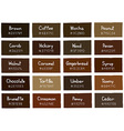 Brown Tone Color Shade Background with Code vector image
