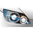 Car headlight vector image vector image