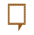 retro speech bubble isolated icon design vector image