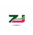 Alphabet Z and J letter logo vector image