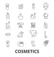 cosmetics beauty makeup lipstick perfume vector image