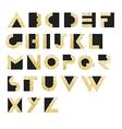 Gold Geometric Retro Alphabet Art deco style Type vector image