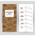hand drawn food Restaurant vector image