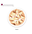 Om Ali or Puff Pastry with Nuts and Whipped Cream vector image