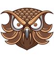 Owl head vector image
