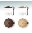 Set of Beach Cafe Bar Pub Umbrella Parasol vector image