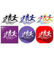 Triathlon icon in three designs vector image