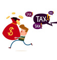 tax and financial threat vector image