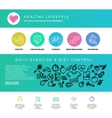 Fitness gym cardio healthy lifestyle health vector image