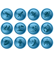Space buttons vector image vector image