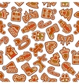 Christmas cookies and biscuits seamless background vector image