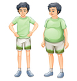 Same Boy Different Body vector image vector image