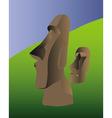 Easter island idol vector image