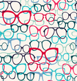 glasses pattern Sunglasses Silhouettes vector image