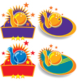 bowling emblems vector image