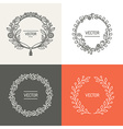 abstract logo design templates with copy space vector image vector image