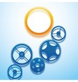 Design with gears vector image