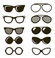 black sunglasses set vector image