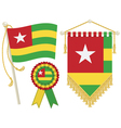 togo flags vector image vector image