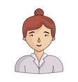 Businesswoman icon in cartoon style isolated on vector image