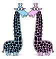 giraffes blue and pink vector image