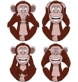 Set of four monkeys vector image