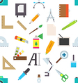 Graphic designer equipment pattern stickers vector image
