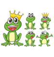 Green frogs vector image vector image