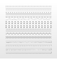 Stitches and dividers vector image vector image