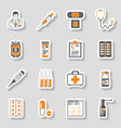 medical sticker icons set vector image vector image