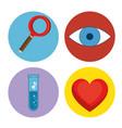 design thinking concept icon set vector image