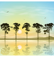 A Line of Trees vector image vector image