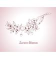 Sakura blossom sketch vector image