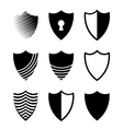 modern shields icons set on white vector image