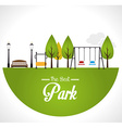 Park design over white background vector image
