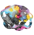 Watercolor galaxy background vector image vector image