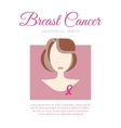 Breast Cancer Awareness Month Poster vector image